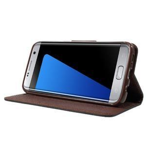 Mercury Orig PU kožené puzdro pre Samsung Galaxy S7 - čierne/hnedé - 3