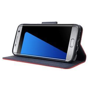 Mercury Orig PU kožené puzdro pre Samsung Galaxy S7 - červené - 3