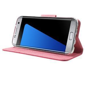 Mercury Orig PU kožené pouzdro na Samsung Galaxy S7 - rose - 3