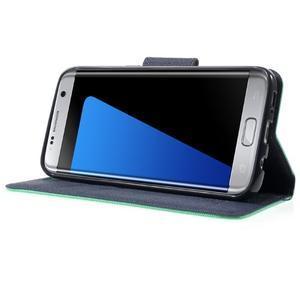Mercury Orig PU kožené pouzdro na Samsung Galaxy S7 - azurové - 3
