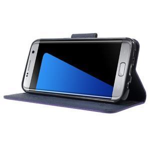 Mercury Orig PU kožené pouzdro na Samsung Galaxy S7 - fialové - 3