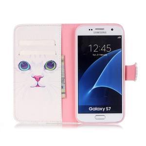 Cross peňaženkové puzdro pre Samsung Galaxy S7 - mačička - 3