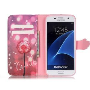 Cross peňaženkové puzdro pre Samsung Galaxy S7 - púpava - 3