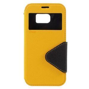 Diary puzdro s okienkom pre Samsung Galaxy S7 - žlté - 3
