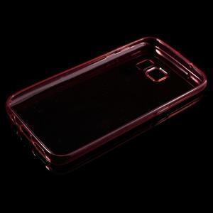 Ultratenký gélový obal pre mobil Samsung Galaxy S7 - červený - 3