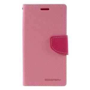 Goosper PU kožené puzdro pre Samsung Galaxy S7 - ružové - 3
