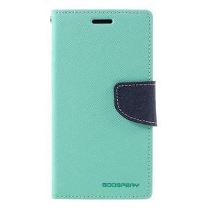Goosper PU kožené puzdro pre Samsung Galaxy S7 - cyan - 3