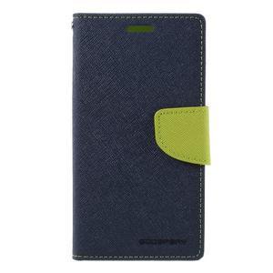 Goosper PU kožené puzdro pre Samsung Galaxy S7 - tmavomodré - 3