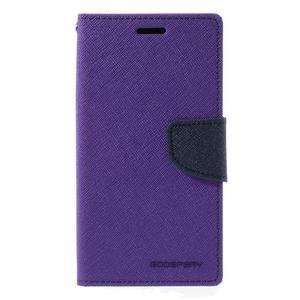Goosper PU kožené puzdro pre Samsung Galaxy S7 - fialové - 3