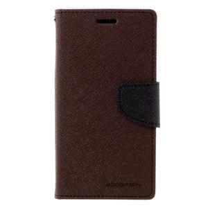 Goosper PU kožené pouzdro na Samsung Galaxy S7 - hnědé - 3