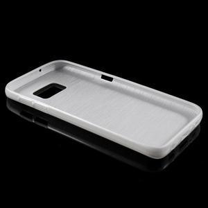 Brush gélový obal pre mobil Samsung Galaxy S7 - biely - 3