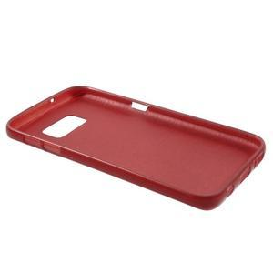 Brush gélový obal pre mobil Samsung Galaxy S7 - červený - 3