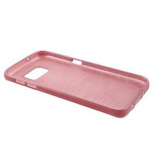 Brush gélový obal pre mobil Samsung Galaxy S7 - ružový - 3