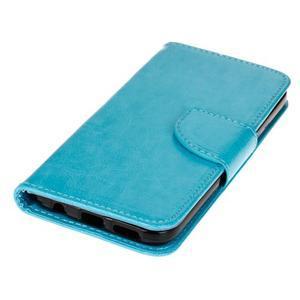 Stand peňaženkové puzdro pre Samsung Galaxy S7 - modré - 3