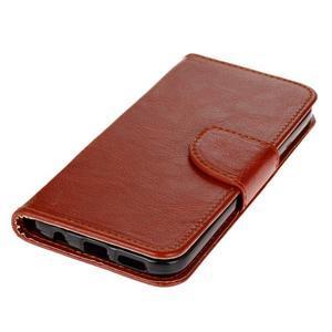 Stand peněženkové pouzdro na Samsung Galaxy S7 - hnědé - 3