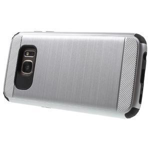 Dvoudílný odolný kryt na Samsung Galaxy S7 - stříbrný - 3