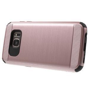 Dvoudílný odolný kryt na Samsung Galaxy S7 - zlatorůžový - 3