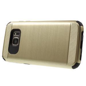 Dvoudílný odolný kryt na Samsung Galaxy S7 - zlatý - 3