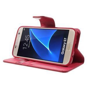 Sonata PU kožené pouzdro na Samsung Galaxy S7 - rose - 3