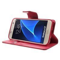 Sonata PU kožené pouzdro na Samsung Galaxy S7 - rose - 3/7