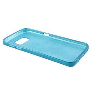 Brush gélový obal pre mobil Samsung Galaxy S7 - modrý - 3