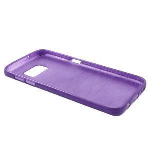 Brush gélový obal pre mobil Samsung Galaxy S7 - fialový - 3