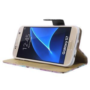 Flower pouzdro na mobil Samsung Galaxy S7 - fialové pozadí - 3