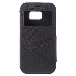 Diary pouzdro s okýnkem na Samsung Galaxy S7 - černé - 3