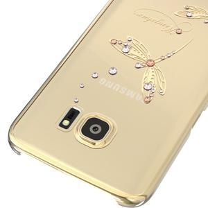 Swarowski plastový obal s kamínky na Samsung Galaxy S7 - vážky - 3