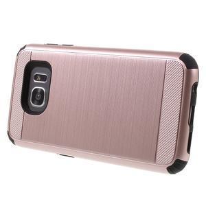 Odolný dvoudílný obal na Samsung Galaxy S7 edge - zlatorůžový - 3