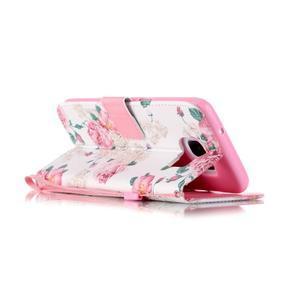 Kvetinové peňaženkové puzdro pre Samsung Galaxy S7 Edge - 3