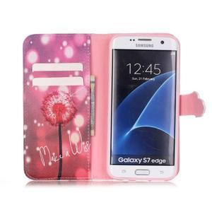 Cross peňaženkové puzdro pre Samsung Galaxy S7 edge - púpava - 3