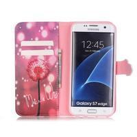 Cross peněženkové pouzdro na Samsung Galaxy S7 edge - pampeliška - 3/6