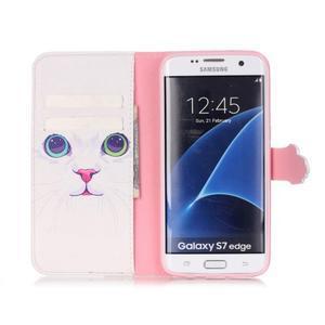 Cross peněženkové pouzdro na Samsung Galaxy S7 edge - kočička - 3