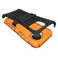 Odolný outdoor kryt na Samsung Galaxy S7 edge - oranžový - 3/5