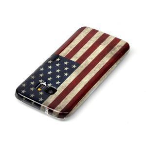 Softy gelový obal na Samsung Galaxy S7 edge - US vlajka - 3