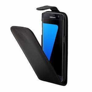 Flipové puzdro pre mobil Samsung Galaxy S7 edge - čierne - 3
