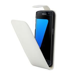 Flipové puzdro pre mobil Samsung Galaxy S7 edge - biele - 3