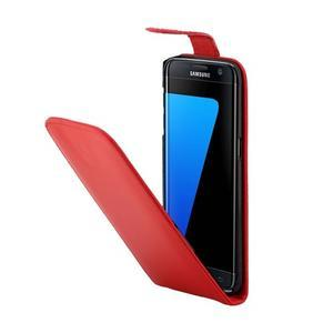 Flipové pouzdro na mobil Samsung Galaxy S7 edge - červené - 3