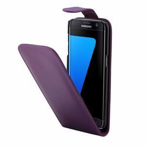 Flipové puzdro pre mobil Samsung Galaxy S7 edge - fialové - 3