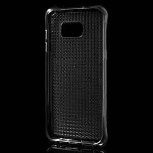 Glitter gélový obal pre Samsung Galaxy S7 edge - šedý - 3