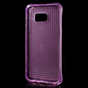 Glitter gélový obal pre Samsung Galaxy S7 edge - rose - 3