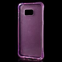 Glitter gélový obal pre Samsung Galaxy S7 edge - rose - 3/5