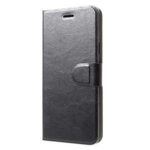 Horse PU kožené zapínacie púzdro na Samsung Galaxy S9 Plus - čierne - 3
