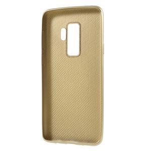 Flexi gélový obal so štruktúrou na Samsung Galaxy S9 Plus - zlatý - 3