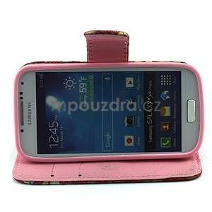 Pusinky peňaženkové puzdro na Samsung Galaxy S4 Mini - červené - 3