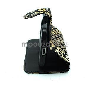 Pusinky peňaženkové puzdro pre Samsung Galaxy S4 Mini - čierné - 3