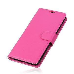 Litchi PU kožené púzdro na Sony Xperia L2 - rose - 3