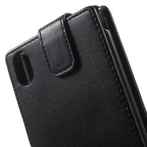 Čierne flipové puzdro pre Sony Xperia M4 Aqua - 3