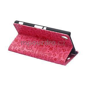Rose texturované pouzdro na Sony Xperia M4 Aqua - 3